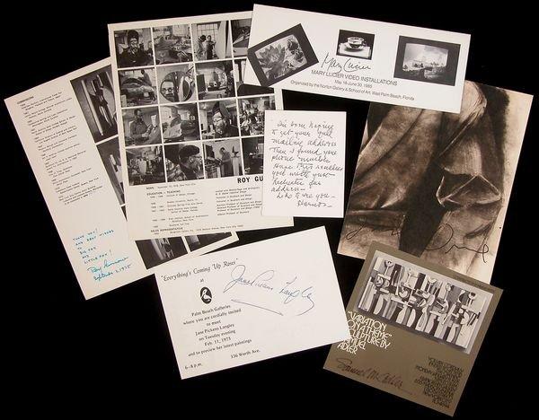 0783: MODERN ARTISTS SIGNED BROCHURES