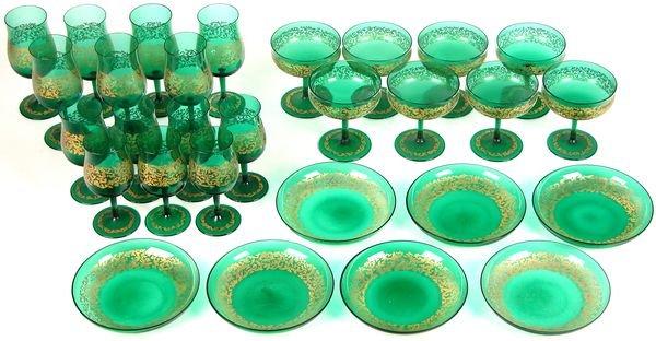 0784: MURANO VENETIAN GLASS TABLE SETTINGS