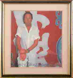 ROBERT RAUSCHENBERG SIGNED COLOR PHOTO