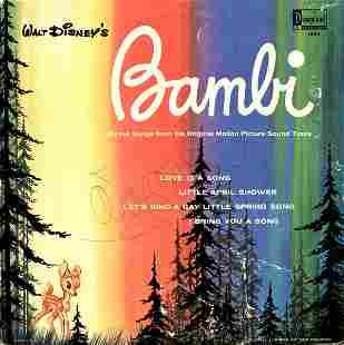 WALT DISNEY SIGNED BAMBI SOUND TRACK ALBUM