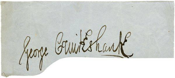 GEORGE CRUIKSHANK SIGNED SIGNATURE