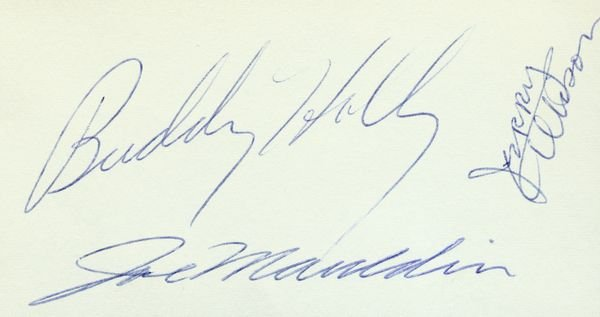 1142: BUDDY HOLLY /JOE MAULDIN/JERRY ALLISON SIGNATURES - 2