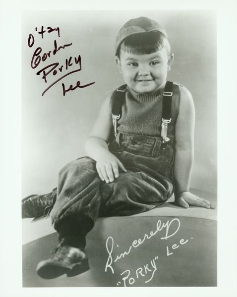 1207: OUR GANG SIGNED PHOTOS SPANKY /PORKY /PINEAPPLE + - 3