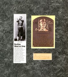 1332: JAKE BECKLEY SIGNED SIGNATURE W/PIC & HOF CARD