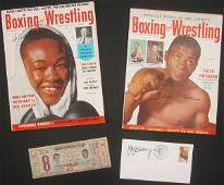 1435 SIGNED BOXING COLLECTION GAVILAN PATTERSON LOUIS
