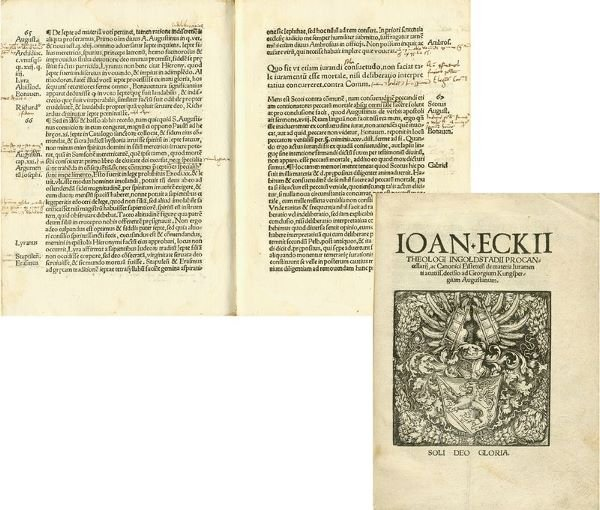 0020: EARLY PRINTED THEOLOGICAL WORK BY JOHANNES ECK