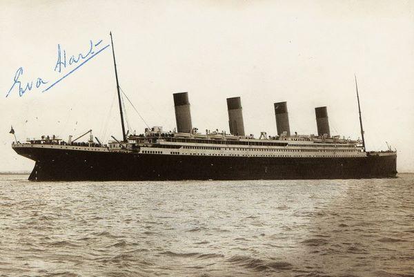 SURVIVOR EVA HART SIGNED PHOTO OF TITANIC