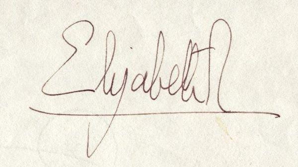 0375: QUEEN ELIZABETH II SIGNED DOCUMENT - 2