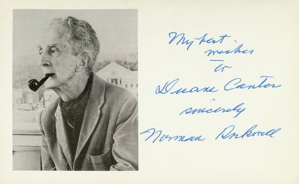 0659: NORMAN ROCKWELL SIGNED PHOTO