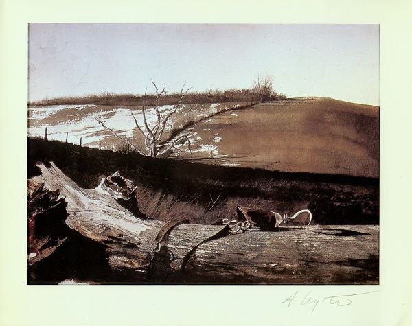 0666: ANDREW WYETH SIGNED PRINT