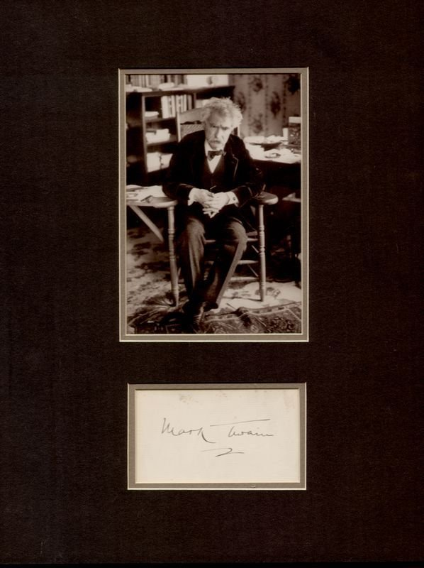 0763: MARK TWAIN SIGNATURE W/ PIC