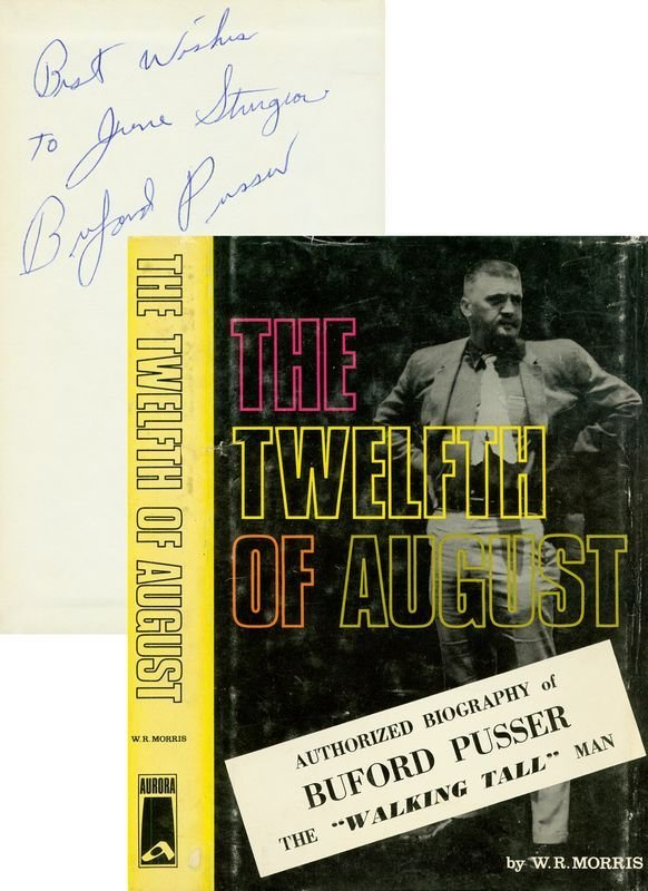 0807: BUFORD PUSSER SIGNED BOOK BIOGRAPHY