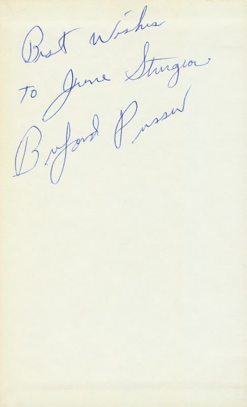 0807: BUFORD PUSSER SIGNED BOOK BIOGRAPHY - 2