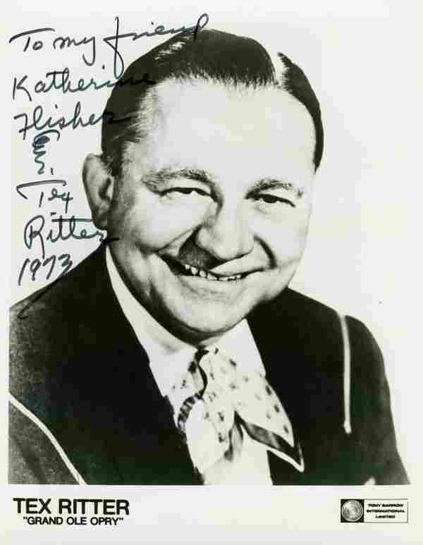 0962: TEX RITTER SIGNED PHOTO