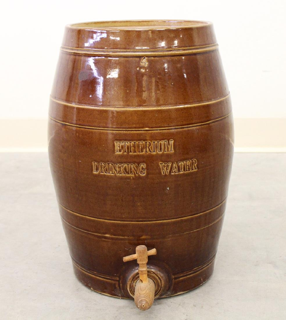 19TH CENTURY ENGLISH DRINKING WATER STONEWARE JUG