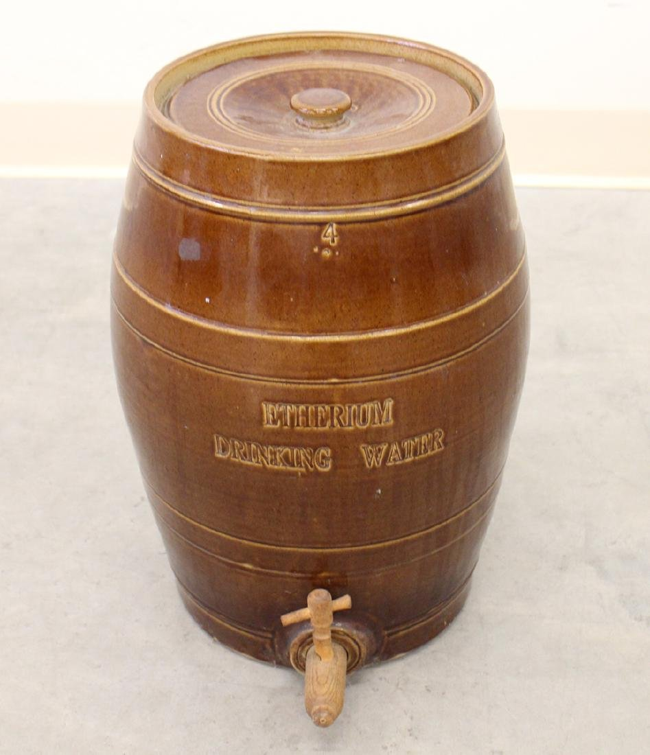 19TH CENTURY ENGLISH DRINKING WATER STONEWARE JUG - 2