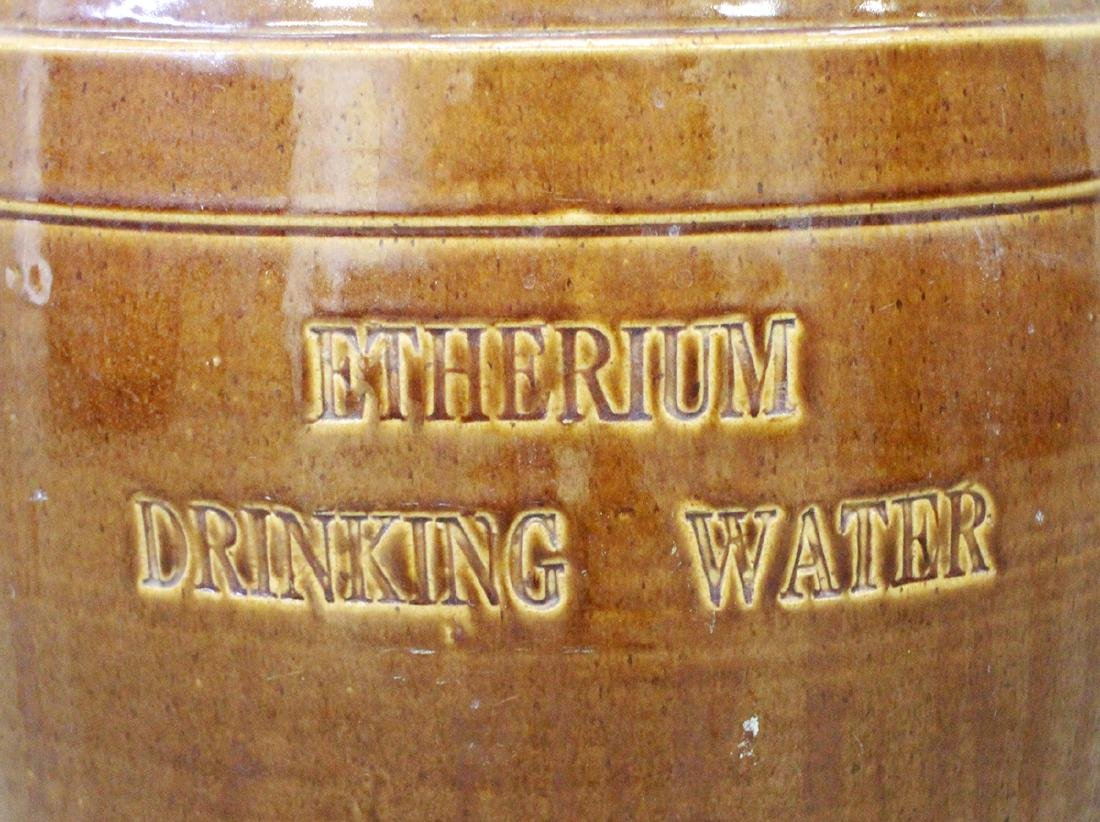 19TH CENTURY ENGLISH DRINKING WATER STONEWARE JUG - 3