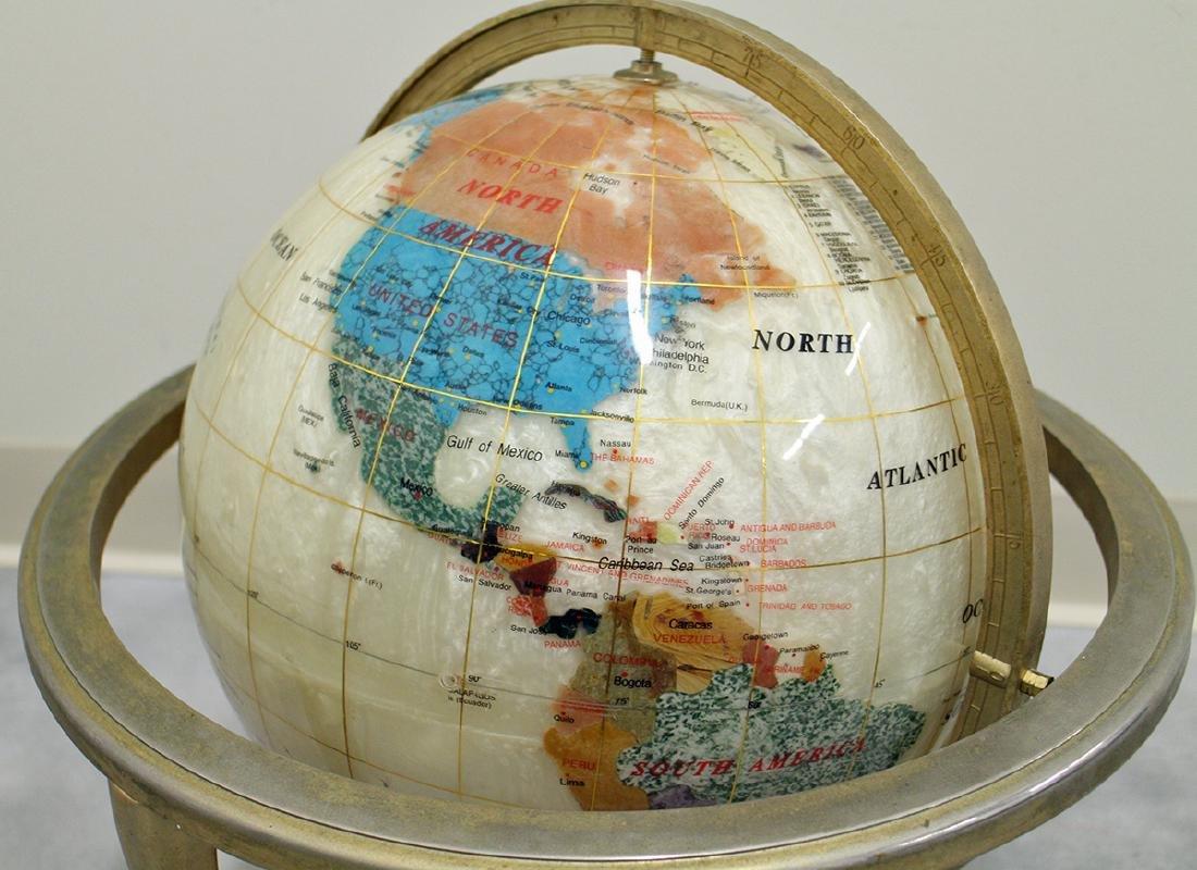 SEMI-PRECIOUS STONE GLOBE - 2