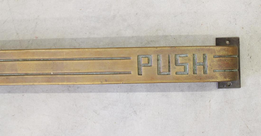 """ART DECO """"PUSH"""" DOOR HANDLE - 2"""