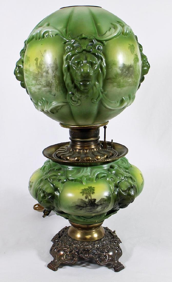 VICTORIAN GONE WITH THE WIND LAMP