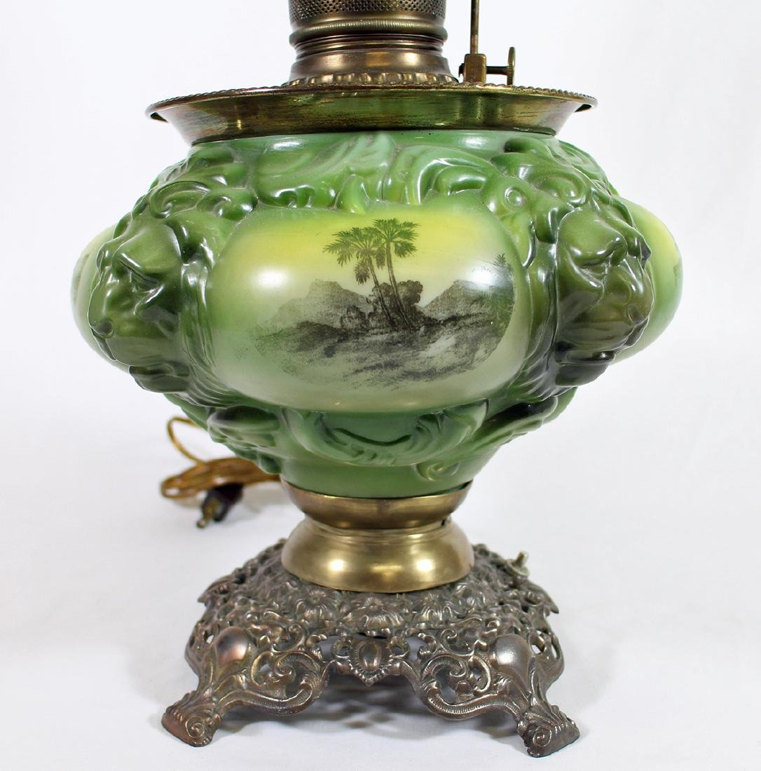 VICTORIAN GONE WITH THE WIND LAMP - 3