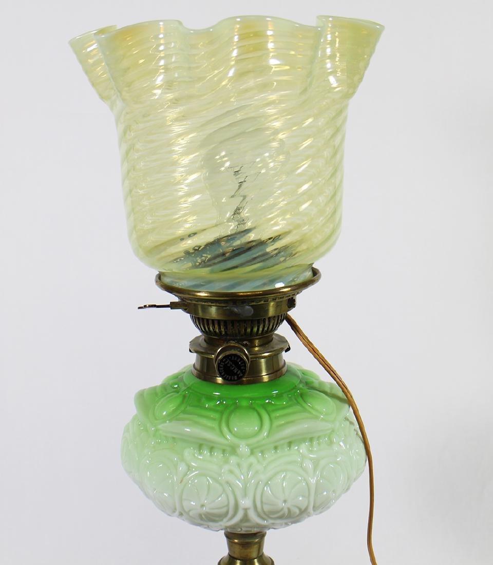 MESSENGERS PATENT GREEN GLASS LAMP - 2