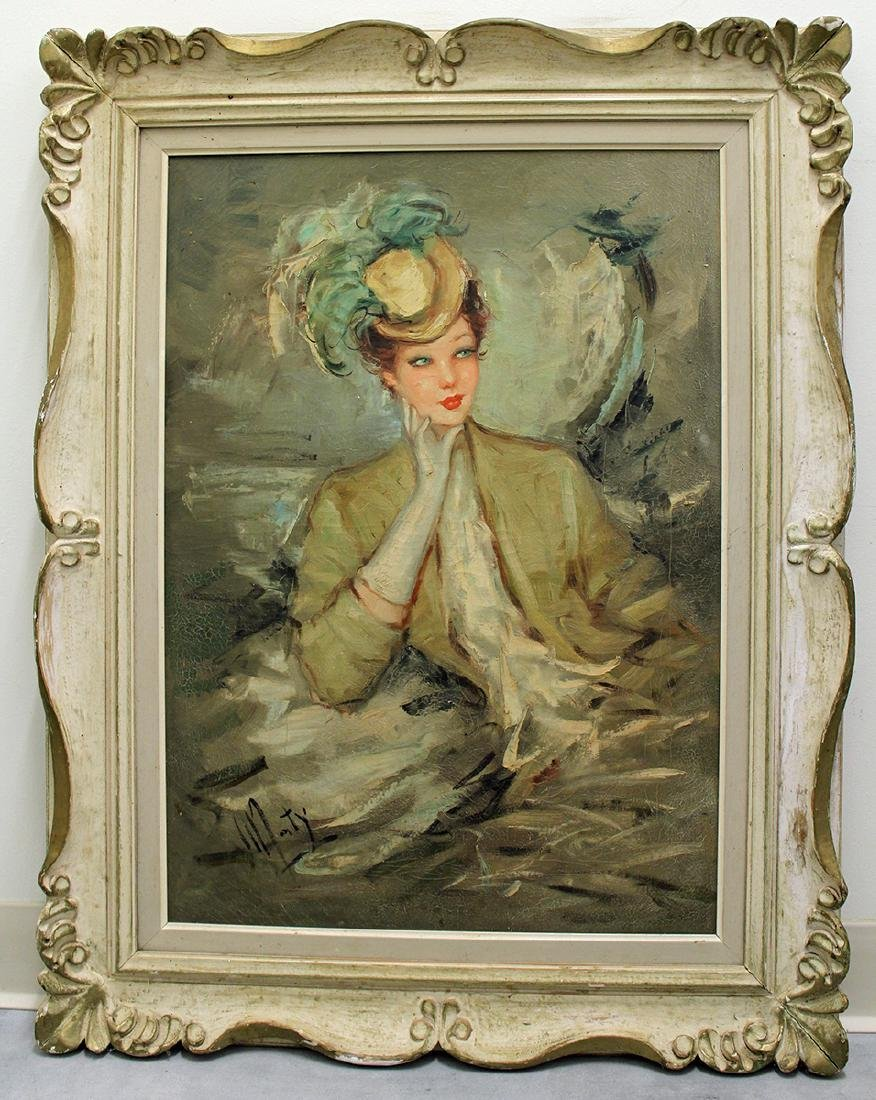 VICTORIAN WOMAN PAINTING - 2