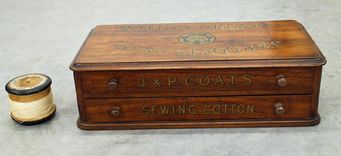 J.P. & COATS SPOOL CABINET