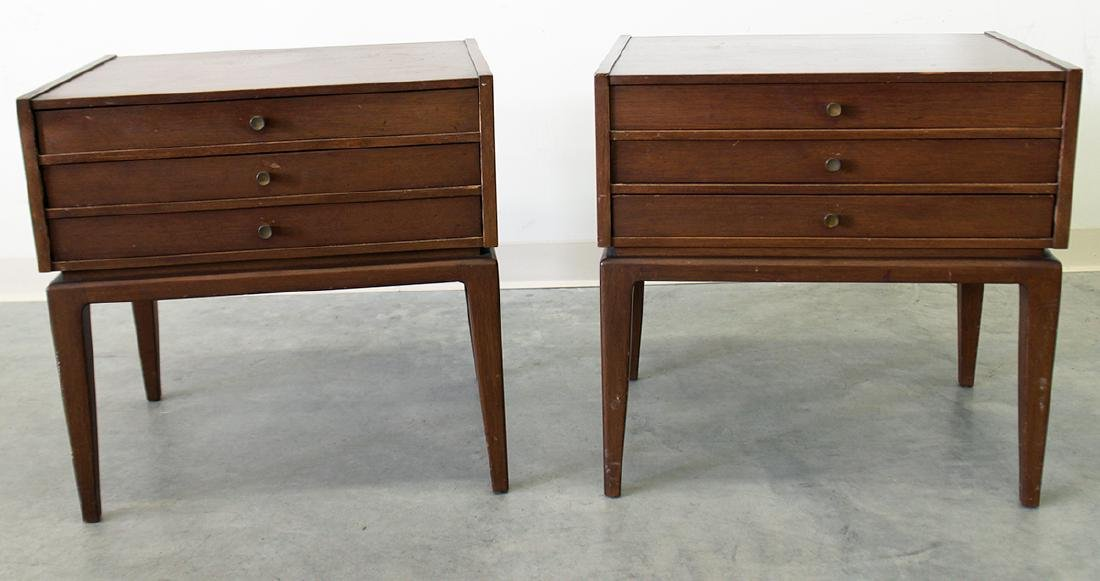 (2) JOHN STUART MID CENTURY FOLDING TABLES