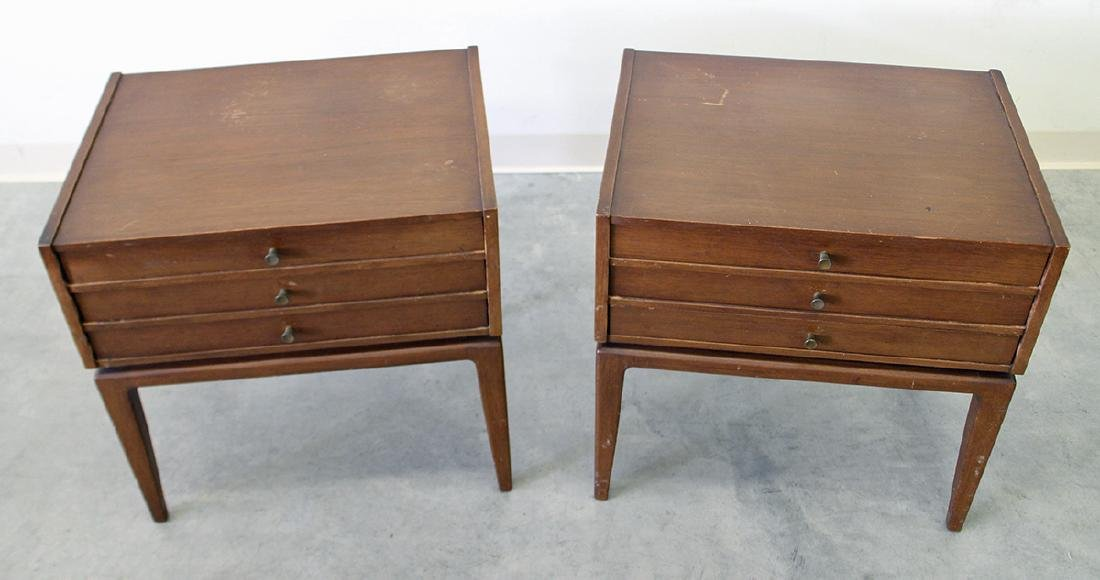 (2) JOHN STUART MID CENTURY FOLDING TABLES - 2