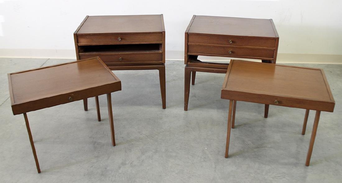 (2) JOHN STUART MID CENTURY FOLDING TABLES - 3