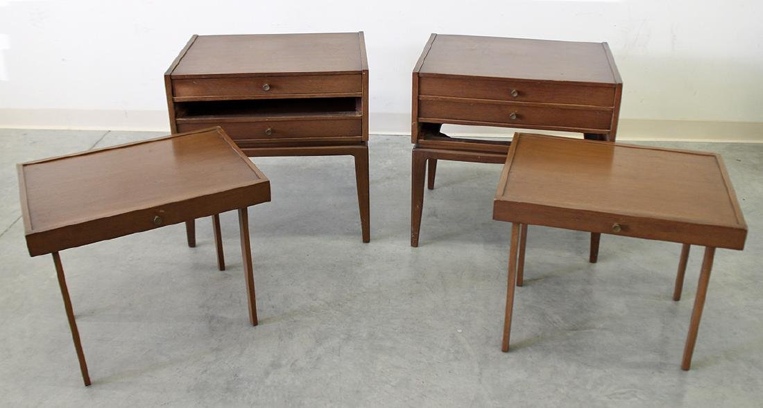 (2) JOHN STUART MID CENTURY FOLDING TABLES - 3
