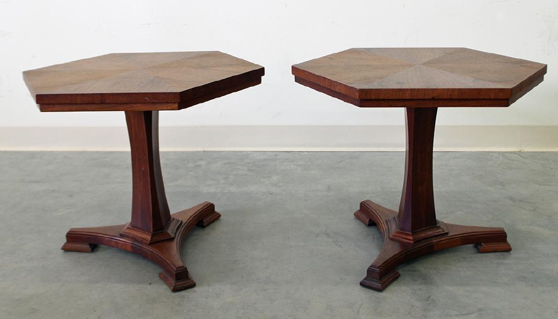 (2) JOHN STUART MID CENTURY END TABLES