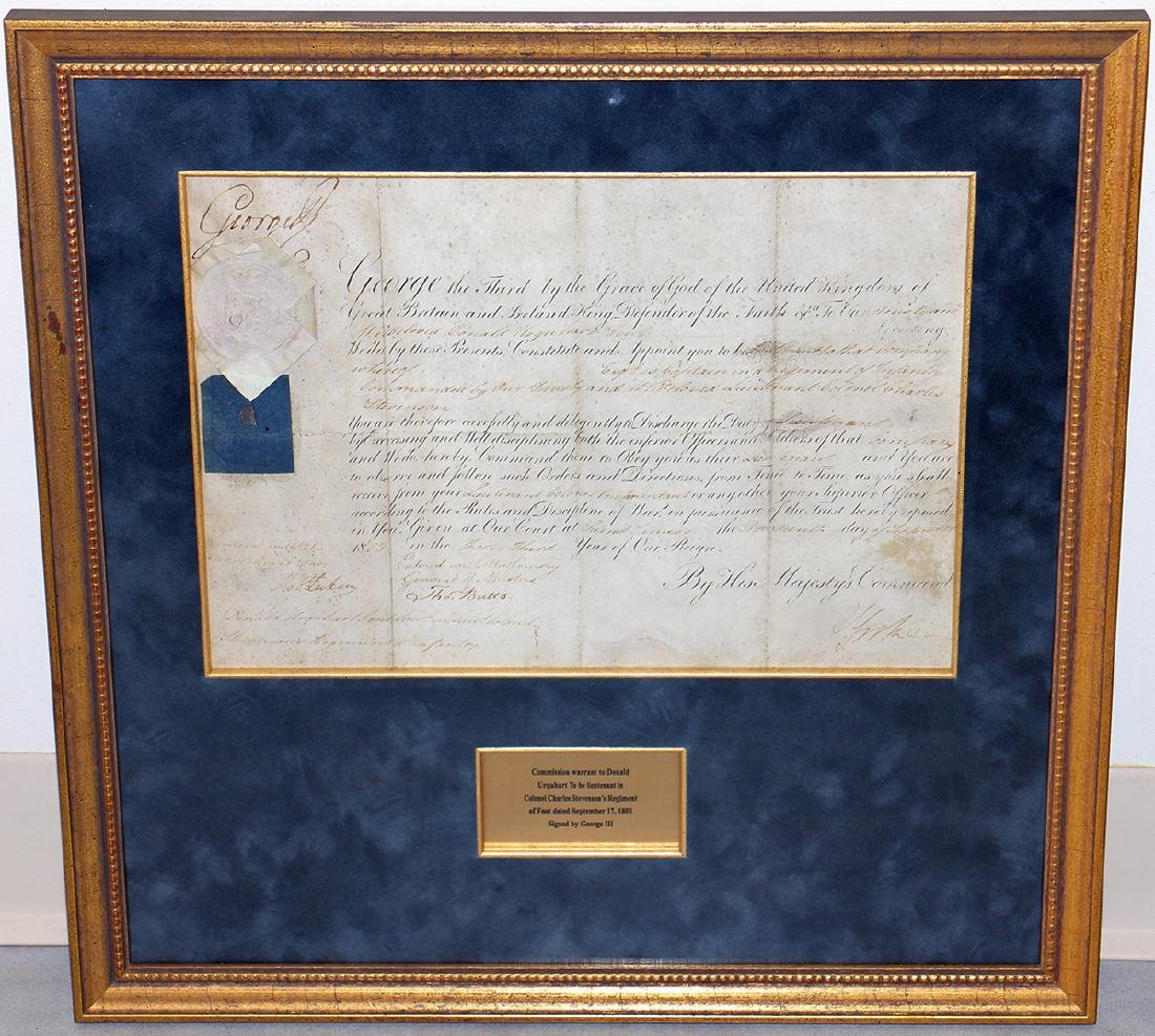 1803 GEORGE III SIGNED DOCUMENT - 2