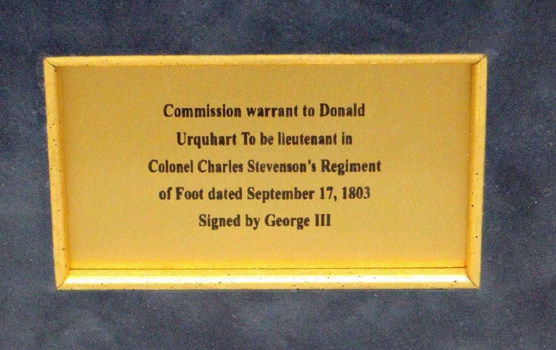 1803 GEORGE III SIGNED DOCUMENT - 3