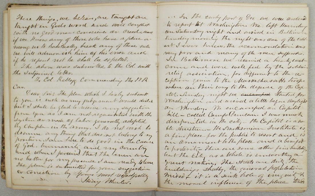 CIVIL WAR DIARY OF CHAPLAIN HENRY WHEELER - 4