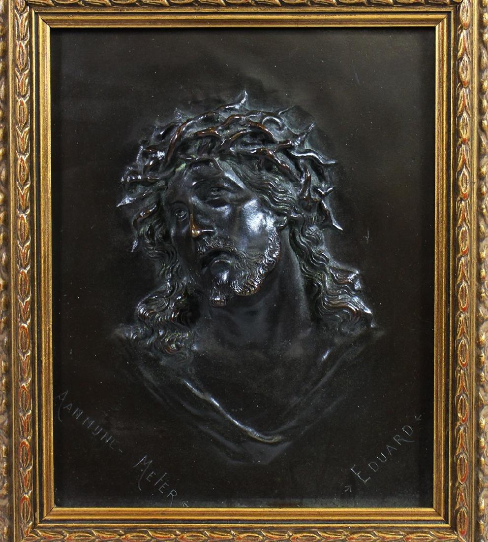 CHRIST HIGH RELIEF PLAQUE - SIGNED EDUARD - 2