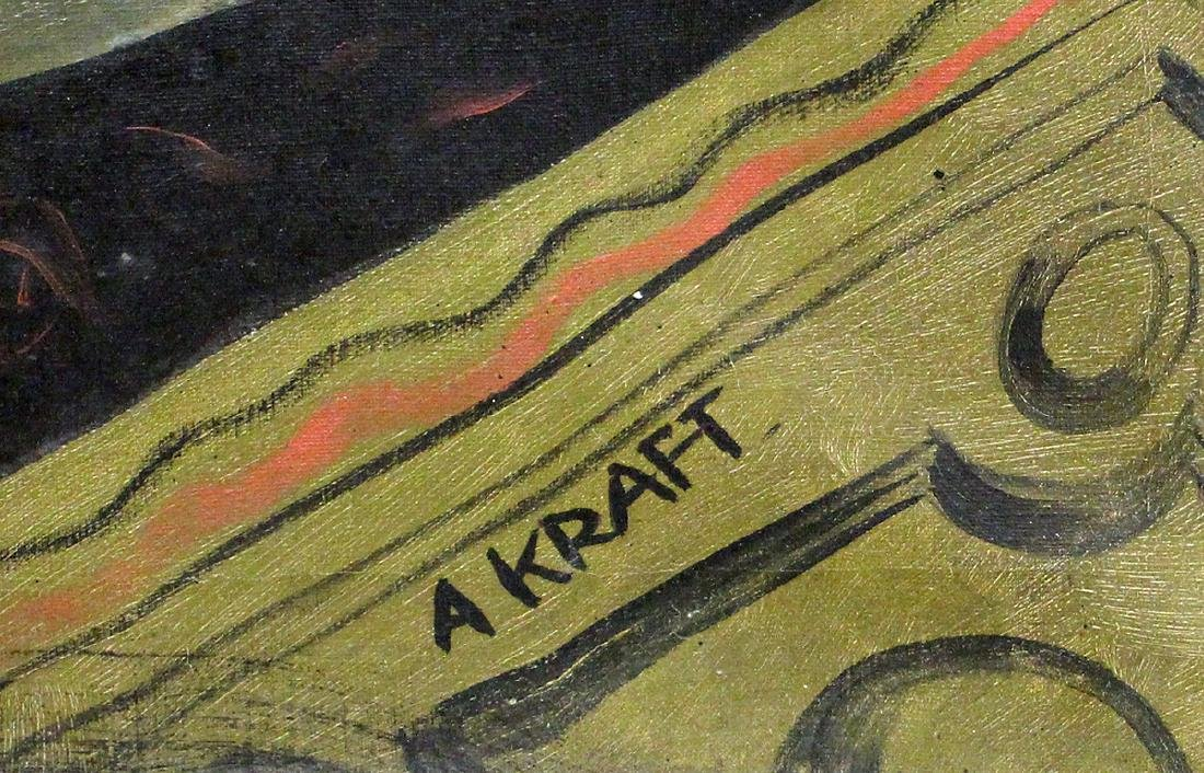 "ARTHUR KRAFT ""NOSTALGIE DE LA BOUE"" PAINTING - 4"