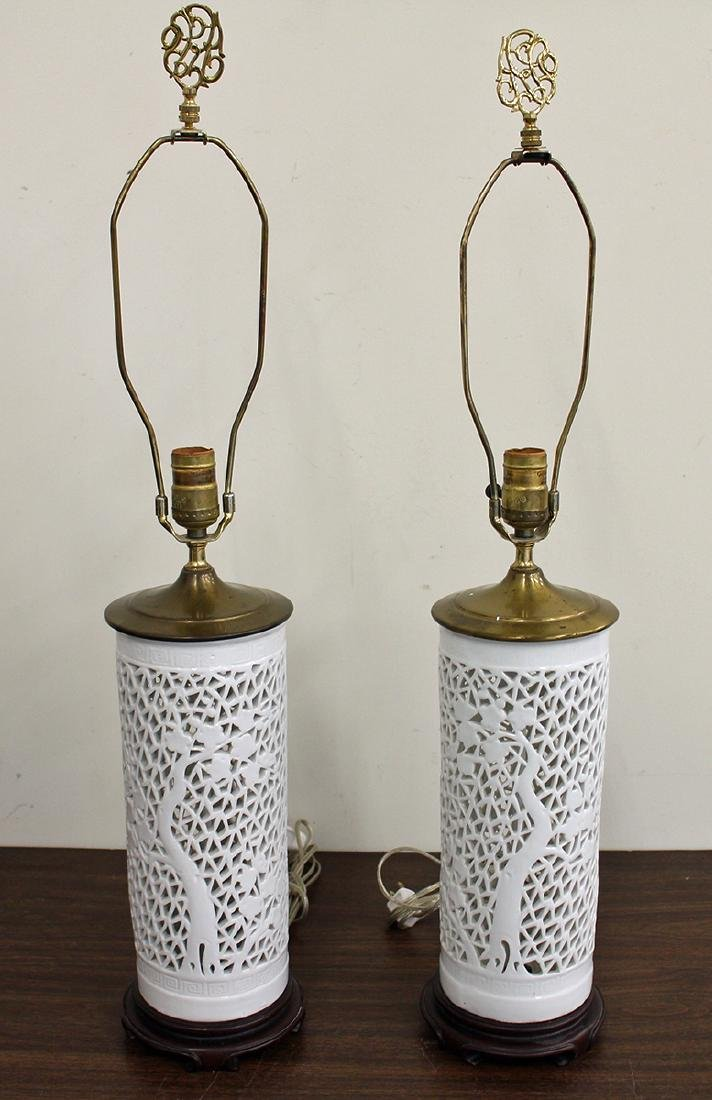 (2) CHINESE RETICULATED LAMPS