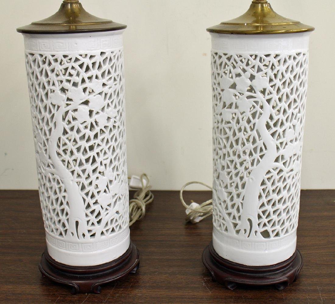 (2) CHINESE RETICULATED LAMPS - 2