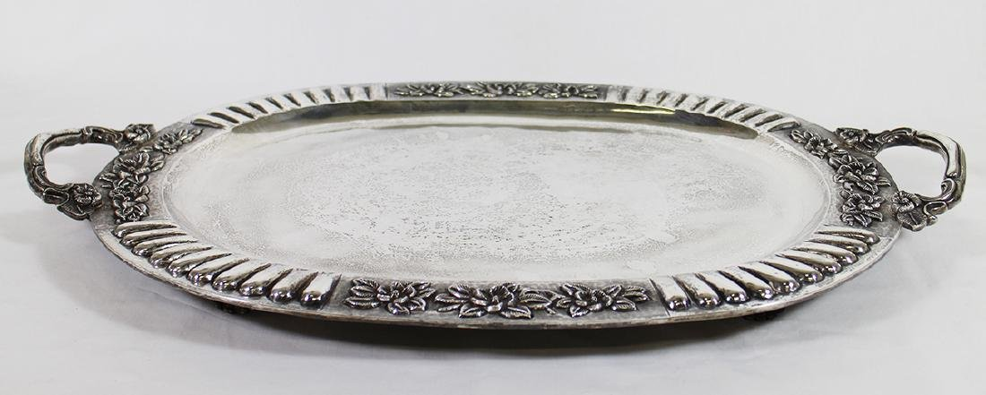 SANBORNS STERLING SILVER FOOTED TRAY