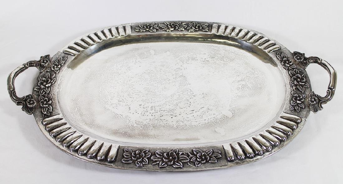 SANBORNS STERLING SILVER FOOTED TRAY - 2