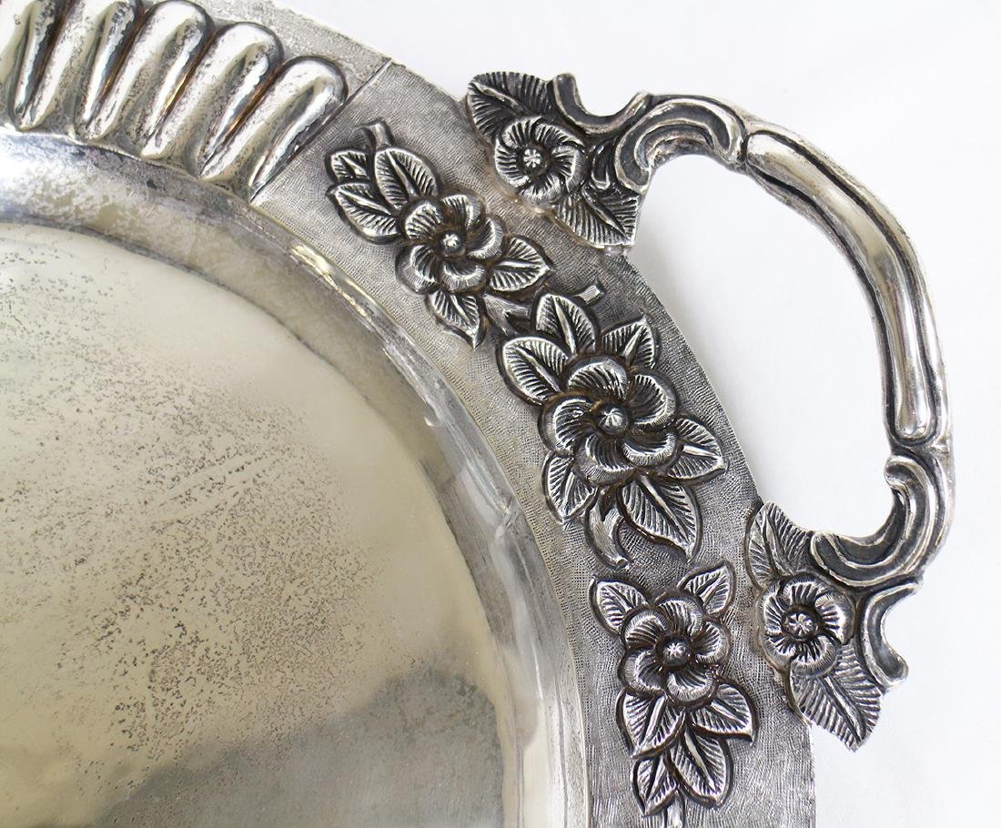 SANBORNS STERLING SILVER FOOTED TRAY - 3