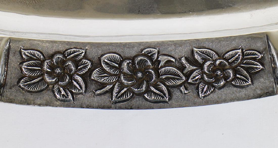 SANBORNS STERLING SILVER FOOTED TRAY - 4