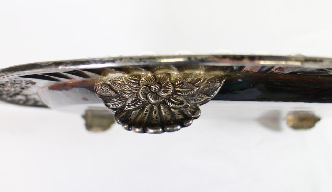 SANBORNS STERLING SILVER FOOTED TRAY - 6