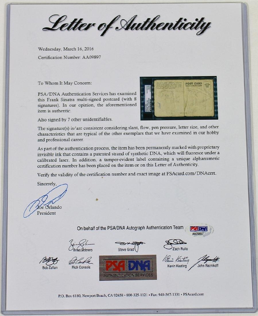 FRANK SINATRA PSA GRADED AUTOGRAPH - 4