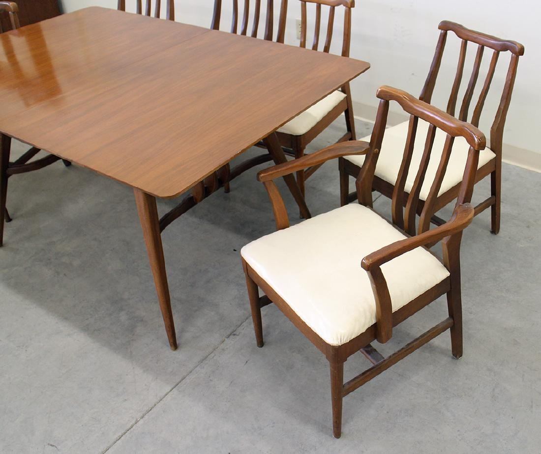 MID CENTURY MODERN DINING TABLE & CHAIRS - 4