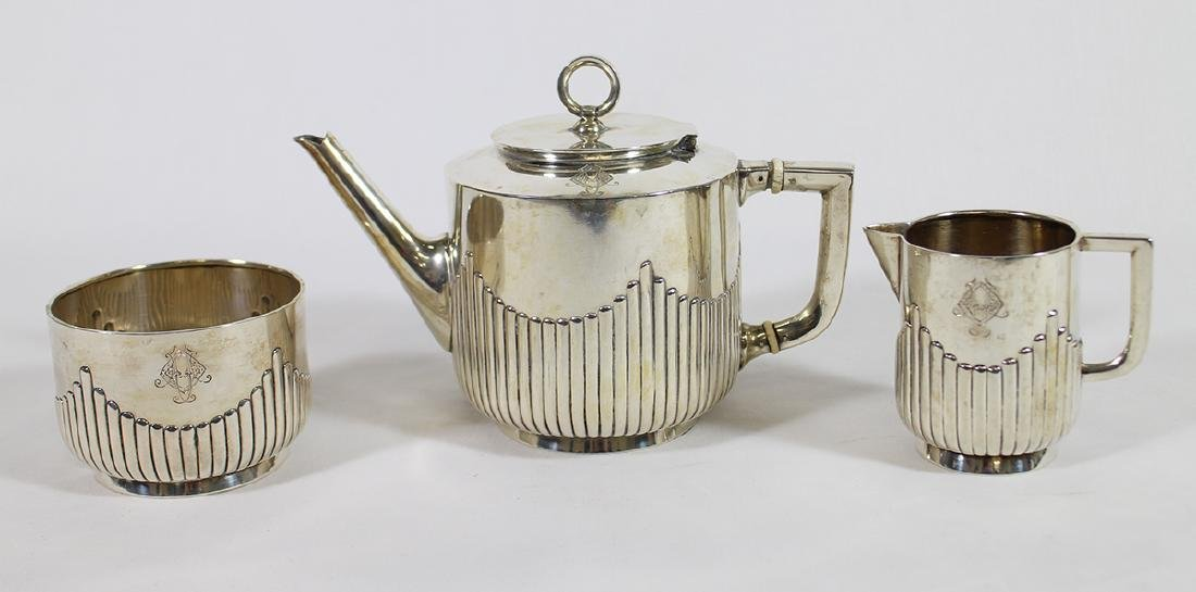 GERMAN 800 SILVER TEA SET