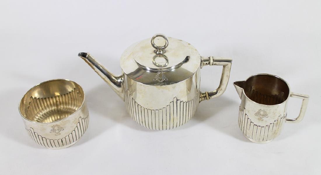 GERMAN 800 SILVER TEA SET - 2
