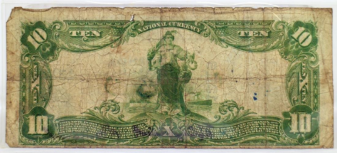 1927 ADDISON NATIONAL BANK $10 BILL - 2